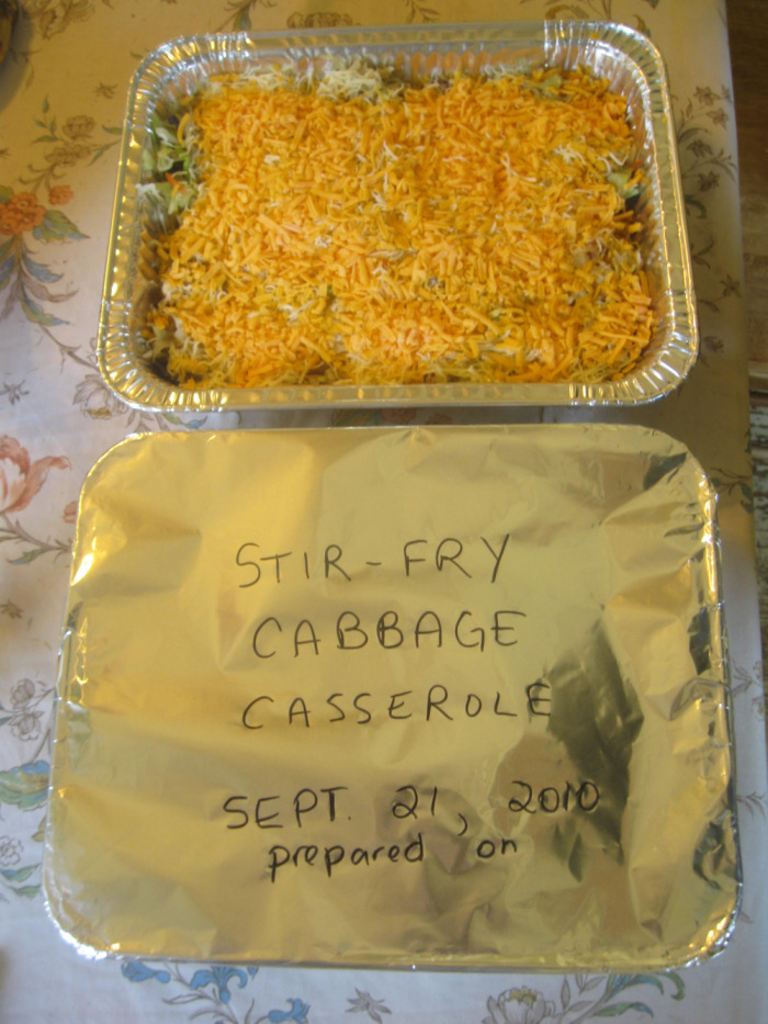 Completed Cabbage Casserole